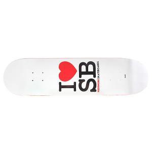 Дека для скейтборда  Original I love SB 31.6 x 8 (20.3 см) Footwork. Цвет: белый