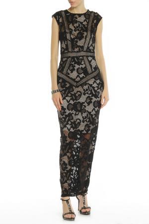 Длинное вечернее платье LITTLE MISTRESS. Цвет: черный