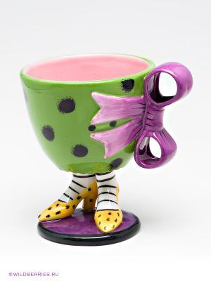 Чашка Туфельки Pavone. Цвет: зеленый, фиолетовый