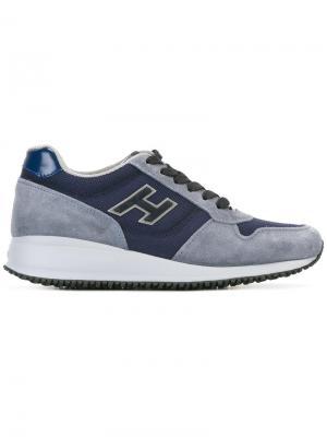 Кроссовки на утолщенной подошве Hogan. Цвет: синий