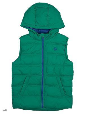 Жилет United Colors of Benetton. Цвет: зеленый, светло-зеленый