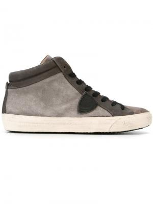 Хайтопы на шнуровке Philippe Model. Цвет: серый