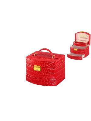 Шкатулка Красный комодик Elan Gallery. Цвет: красный