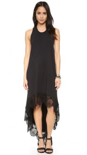 Платье Seashell Hanalei Nightcap x Carisa Rene. Цвет: голубой