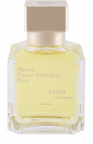 Туалетная вода APOM pour homme Maison Francis Kurkdjian. Цвет: бесцветный