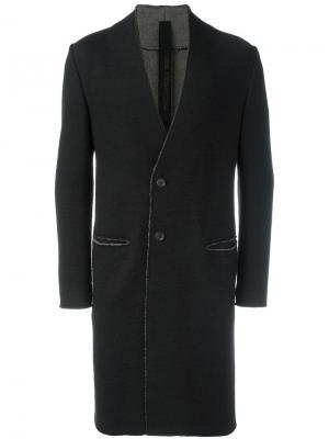 Пальто без воротника Forme Dexpression D'expression. Цвет: чёрный