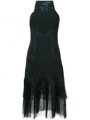Платье миди с отделкой Jonathan Simkhai. Цвет: чёрный