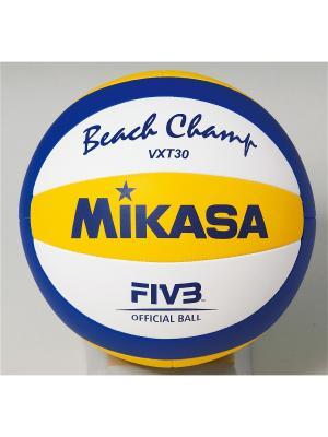 Мяч волейбольный Mikasa. Цвет: синий, белый, голубой