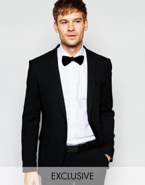 Number Eight Savile Row Эксклюзивный эластичный пиджак скинни. Цвет: черный