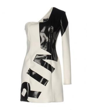 Короткое платье ANTHONY VACCARELLO. Цвет: слоновая кость