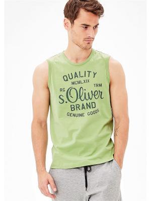 Майка S.OLIVER. Цвет: зеленый