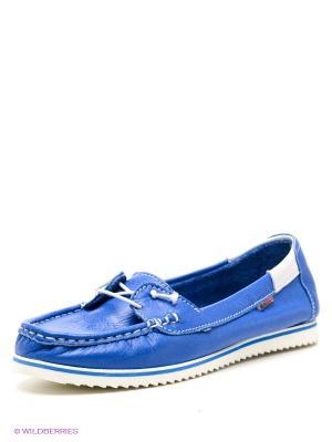 Мокасины El Tempo. Цвет: синий