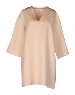 Короткое платье NANUSHKA. Цвет: бежевый