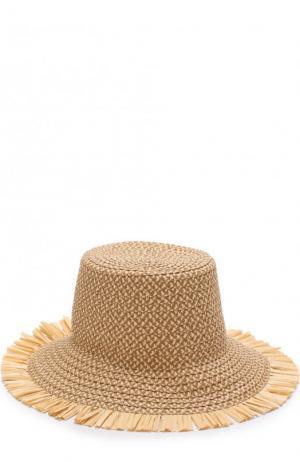 Шляпа с декоративной отделкой Eric Javits. Цвет: бежевый