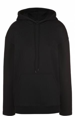 Толстовка прямого кроя с карманом и капюшоном Balenciaga. Цвет: черный