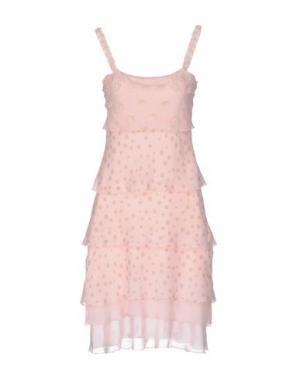 Короткое платье JUST FOR YOU. Цвет: розовый