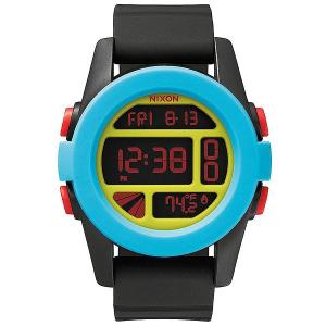 Часы  Rhythm Black/Blue/Chartreuse Nixon. Цвет: голубой,черный