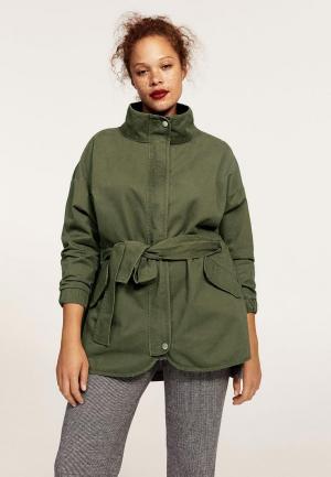 Куртка Violeta by Mango. Цвет: хаки