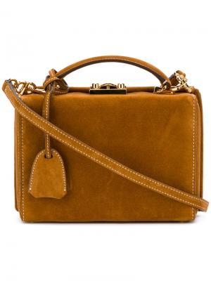 Структурированная квадратная сумка Mark Cross. Цвет: коричневый
