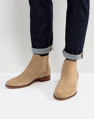 WALK LONDON Замшевые ботинки челси. Цвет: светло-бежевый