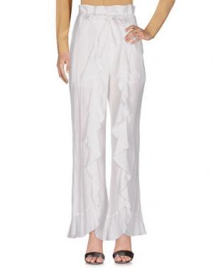 Повседневные брюки DEVOTION. Цвет: белый