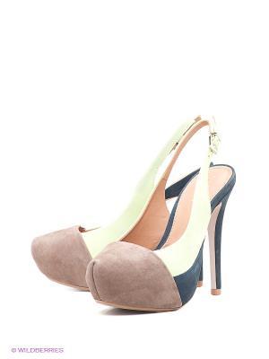 Туфли Klimini. Цвет: черный, салатовый, коричневый