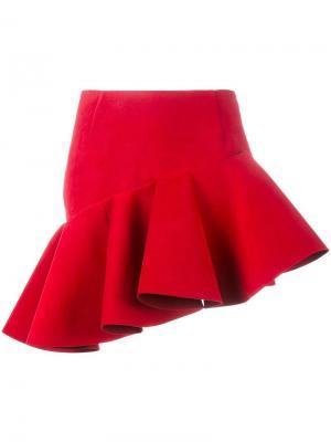 Асимметричная мини юбка Jacquemus. Цвет: красный