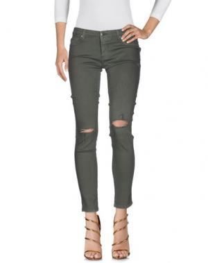 Джинсовые брюки FIFTY FOUR. Цвет: зеленый-милитари