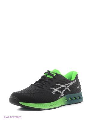 Кроссовки fuzeX ASICS. Цвет: черный, зеленый, серый