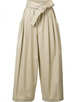 Укороченные брюки со сборками Tome. Цвет: телесный
