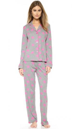 Пижама  Kisses PJ Salvage. Цвет: серый меланж