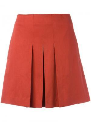 Плиссированная мини-юбка A.P.C.. Цвет: жёлтый и оранжевый