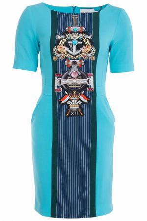 Платье Mary Katrantzou. Цвет: бирюзовый