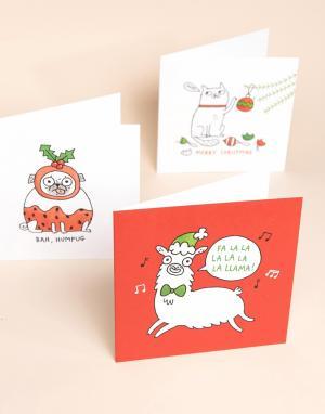 OHH DEER Набор из 6 открыток с новогодними персонажами x Gemma Correll. Цвет: мульти