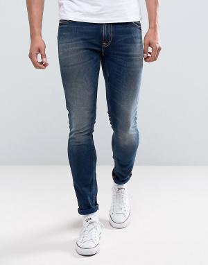 Nudie Jeans Темно-синие джинсы скинни Co Lin Jean. Цвет: синий