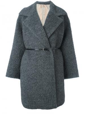 Пальто с поясом Nº21. Цвет: серый