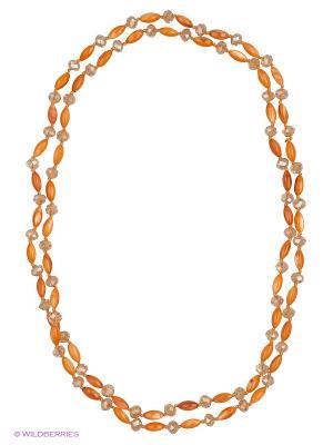 Бусы Vittorio Richi. Цвет: оранжевый