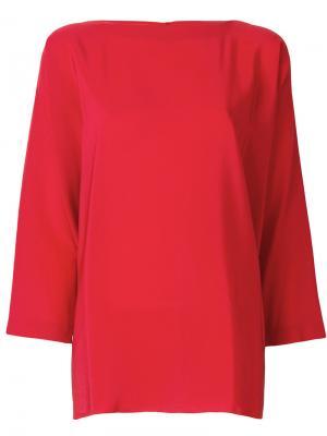 Блузка свободного кроя Daniela Gregis. Цвет: красный