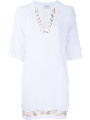 Платье с накладными карманами Sam & Lavi. Цвет: белый