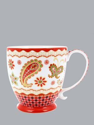 Кружка Цветочная мозаика Elan Gallery. Цвет: белый, красный