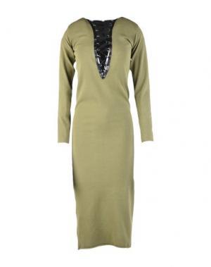 Платье длиной 3/4 TENAX. Цвет: зеленый-милитари