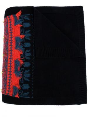 Cashmere intarsia scarf Barrie. Цвет: чёрный