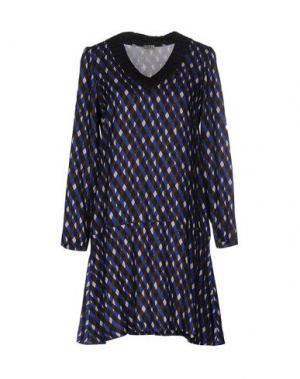 Короткое платье SIYU. Цвет: ярко-синий