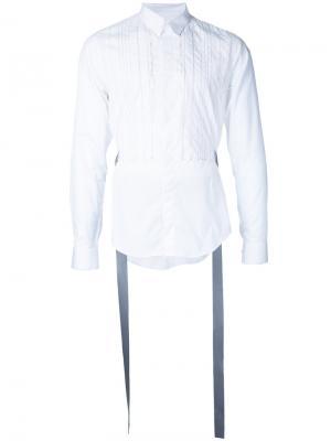 Рубашка с полосатой манишкой Consistence. Цвет: белый
