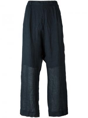 Широкие брюки Kristensen Du Nord. Цвет: синий