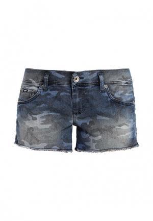 Шорты джинсовые Gas. Цвет: синий