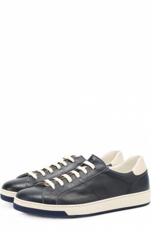 Кожаные кеды на шнуровке Doucals Doucal's. Цвет: темно-синий
