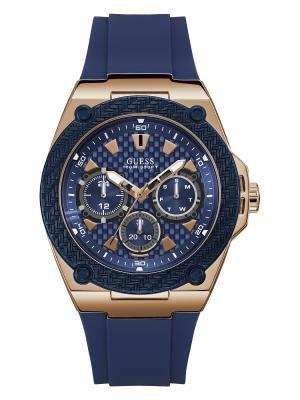 Часы GUESS. Цвет: темно-синий, золотистый, красный