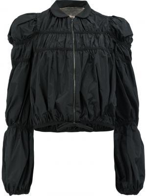 Легкая куртка с присборенной отделкой Giambattista Valli. Цвет: чёрный