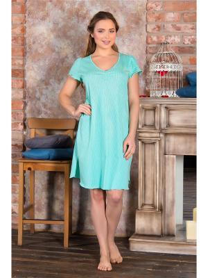 Ночные сорочки Santi. Цвет: морская волна, бирюзовый, светло-зеленый